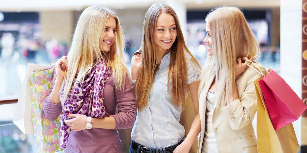 three girls shopping - clayton hotels