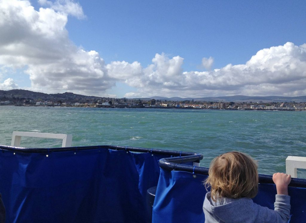 view of Dublin Bay from cruise