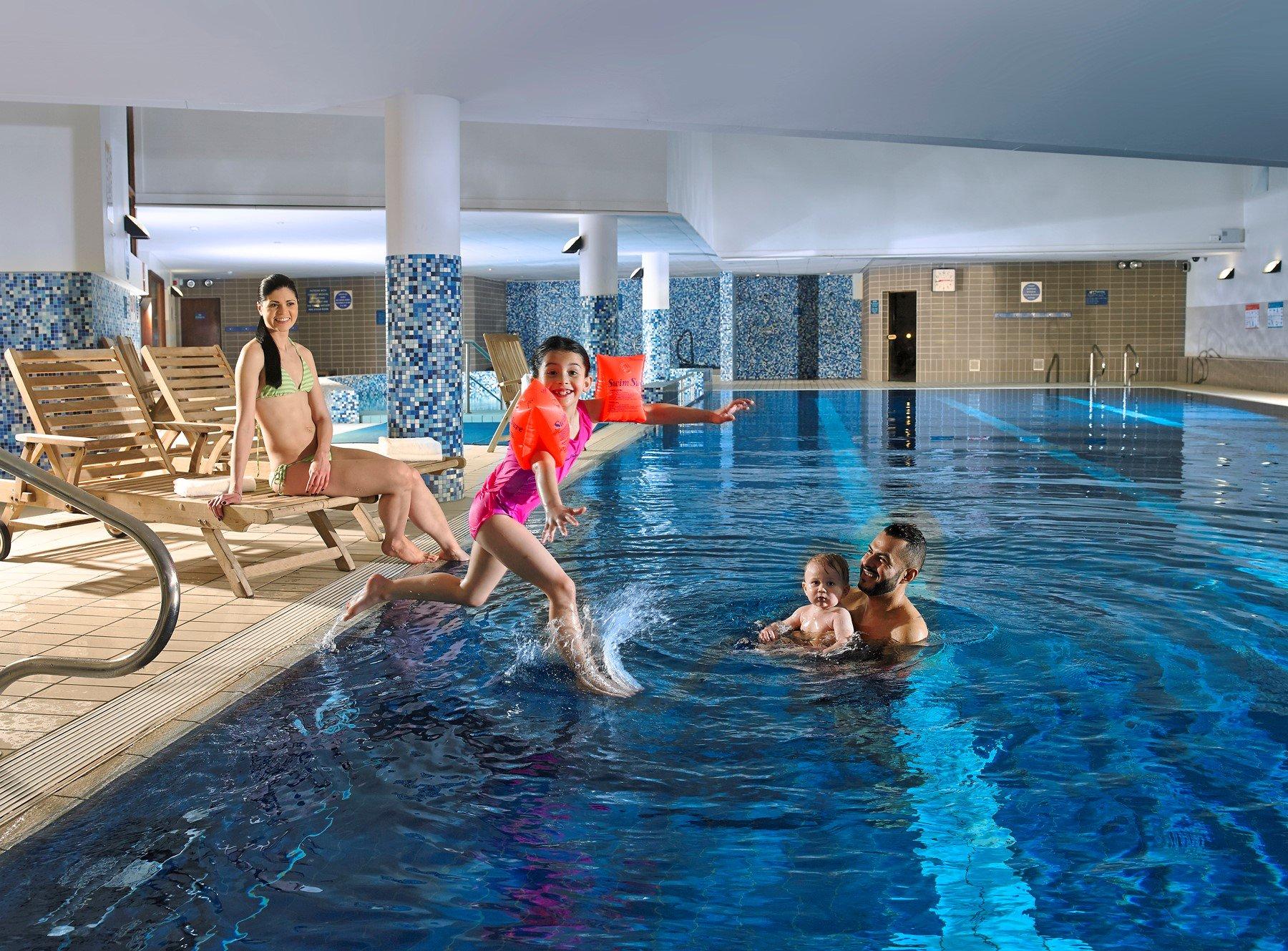 family at Clayton Hotel lesiure club